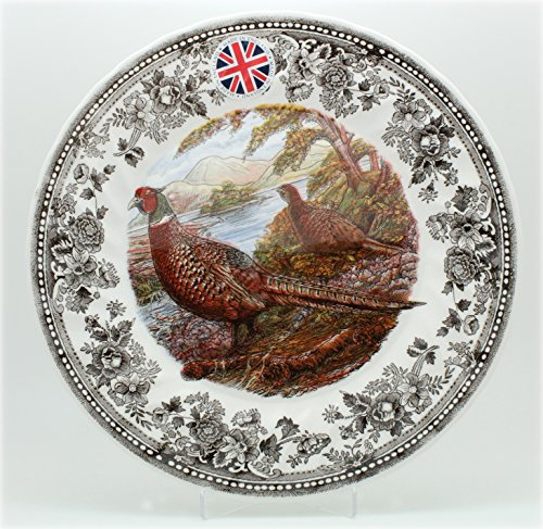 Queen's Dinner Plates Quintessential Game Collection (Pheasant) / Set of 4 -