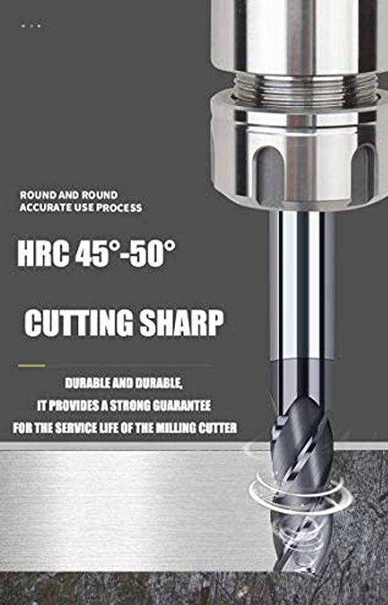 Cutting Edge Diameter : 1PCS, Dimensions : 3X4DX50L Jiaqi-milling 4 Flutes Carbide End Mill Milling Tools Alloy Coating Tungsten Steel Endmils CNC Machine Cutting Tools End Mills,