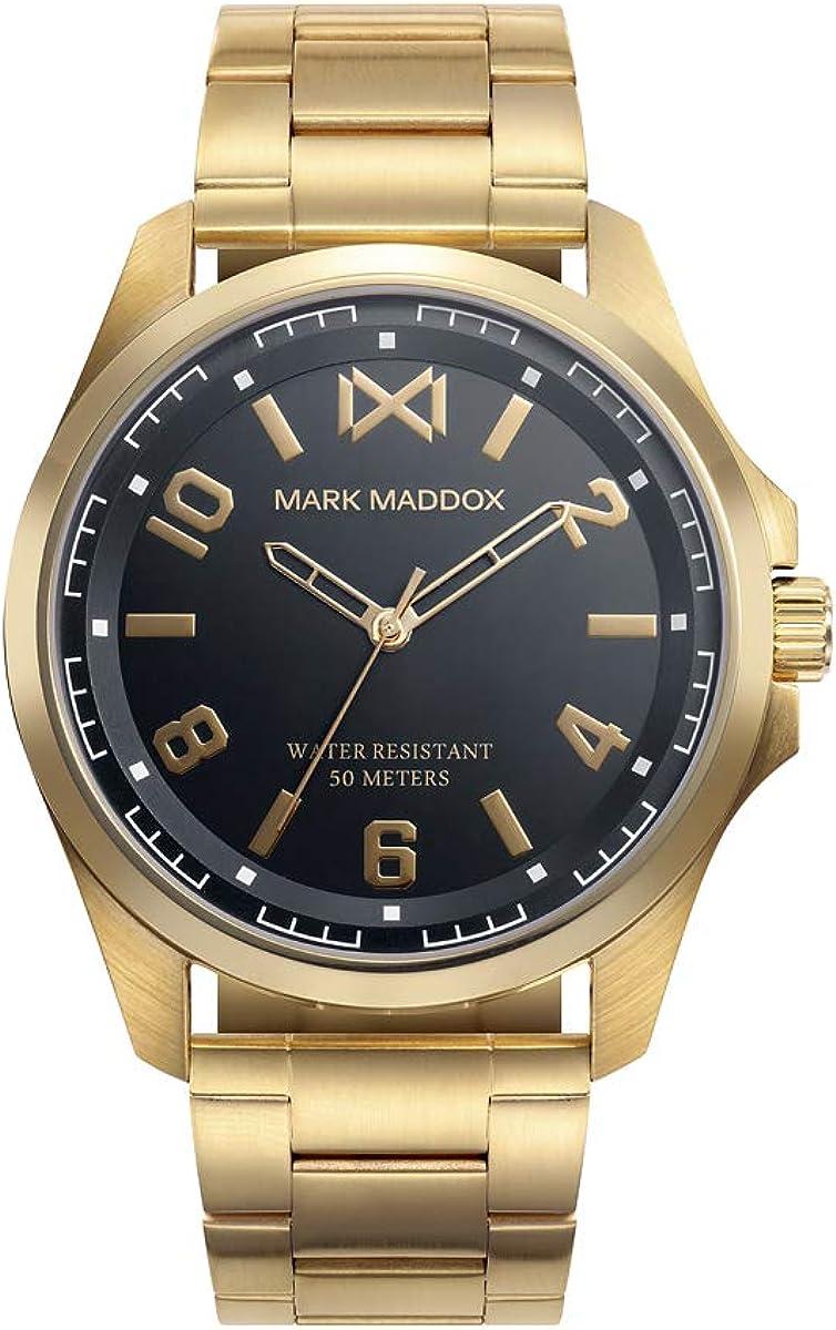 MARK MADDOX - Reloj Acero IP Dorado Brazalete Sr Mm - HM0108-55