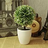 LANJIE Simulation Of Plant Flowers Bonsai Tree Ornaments Potted Plants Fake Tree Grass Ball Plastic Flower Table Decoration Fruit White