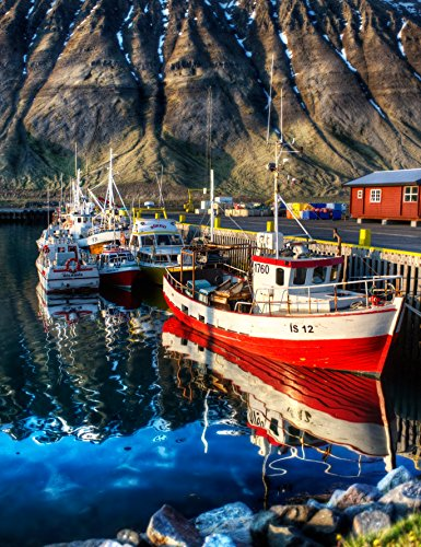 (Adult Jigsaw Puzzle Fishing Villages Boats Ships Iceland 500-Pieces)