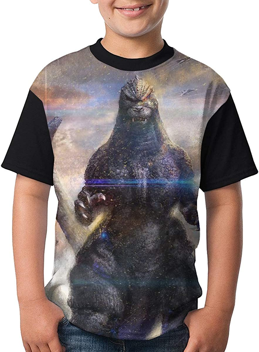 Selfhood-Vogue God-Zilla T Shirts Youth Round Neck Shirt Teenager Boys Personality Tees
