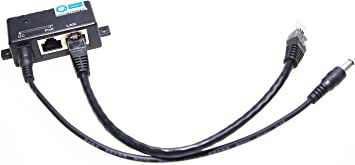 1Pack PoE Splitter Network Power Over Ethernet 24V TO 12V Adapter Black