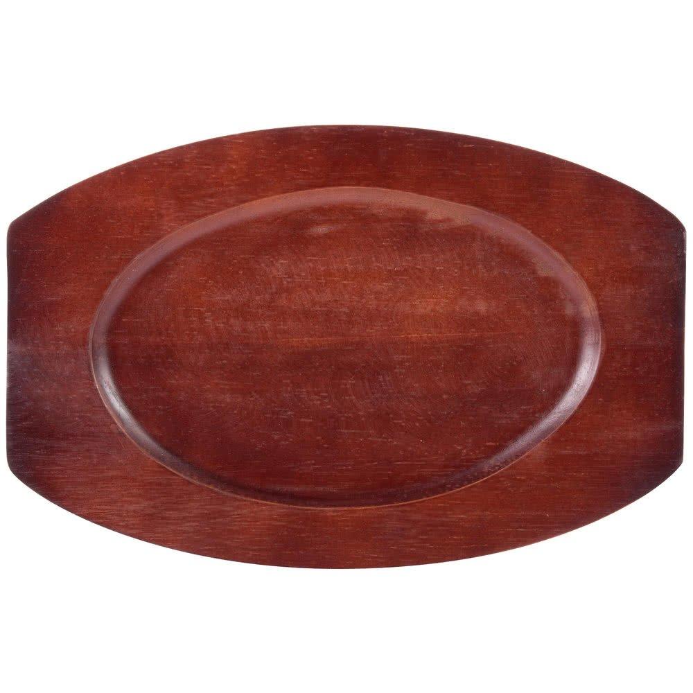 マホガニーオーバル木製Sizzler Platter Underliner 9