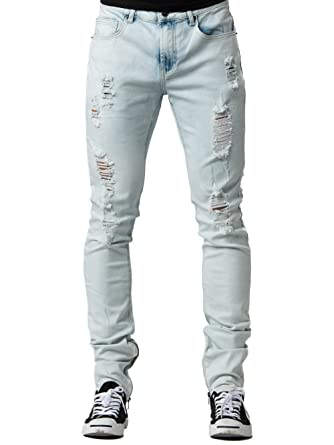 4adc55f2a Young and Reckless - Walker Tapered Jeans - Bleach Blue - 30 - Mens -  Bottoms