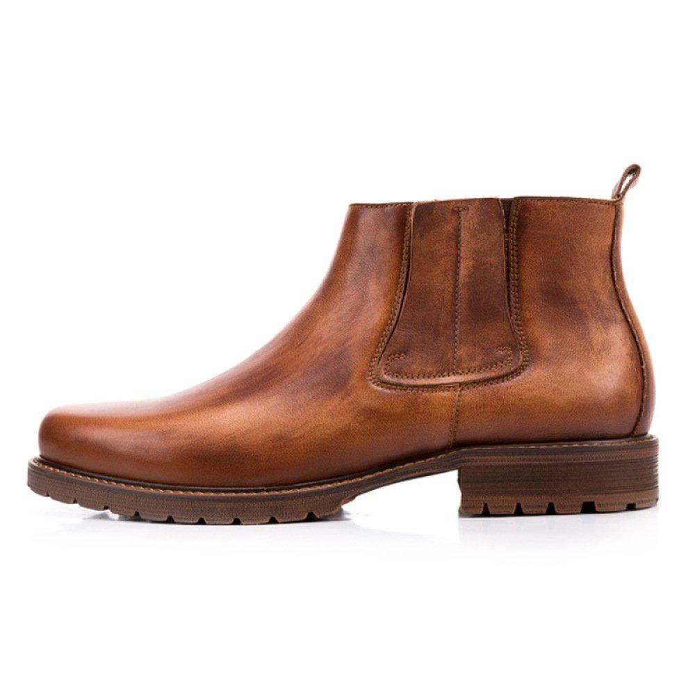 GTYMFH Herbst High Top Herren Stiefel Herren Chelsea Stiefel Echtes Leder Vintage Lederstiefel