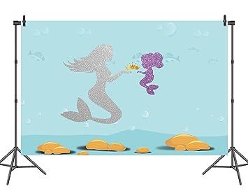 amazon com sensfun baby shower mermaid backdrop unterwater sliver