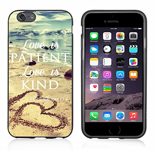 - Love is Patient Love is Kind with Hearts On Beach Case/Cover for iPhone 6 or 6S by Atomic Market