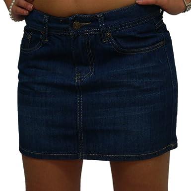 Abilio - Jeans Falda Corta Mini Falda Azul minigonne Denim Faldas ...