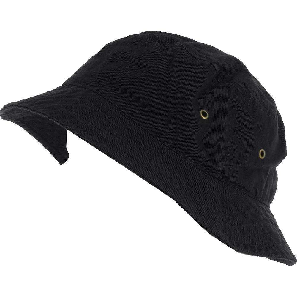 Easy-W Black 100% Cotton Hat Cap Bucket Boonie Unisex by Easy-W (Image #1)