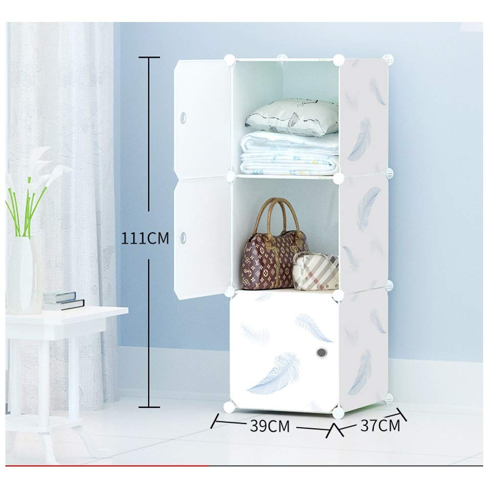 Wardrobe DIY Free Combination Wardrobe Environmentally Friendly Tasteless Simple Combination Plastic Detachable Water Laundry Cabinet (Color : Natural, Size : 3A)