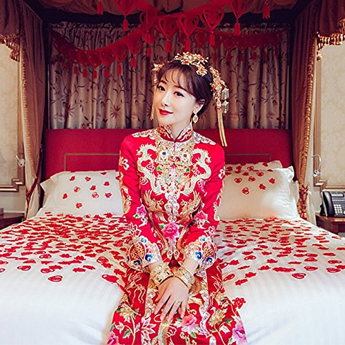 Generic Chen Zi Han costume with new models marry bride dress wedding dress toast clothing Chinese dragon and phoenix gown evening dress for women girl by Generic (Image #3)