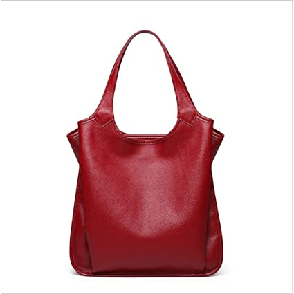 05b96d552b HWX The First Layer of Leather Bag Ladies Handbags Autumn and Winter New  European and American Fashion Tote Bag Leather Handbags Shoulder Messenger  Bag