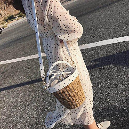 Simple ZHANGJIA Sac Femme de de d'eau l'épaule Mode Sac Sac Sac Sac à Paille STfwnSq4