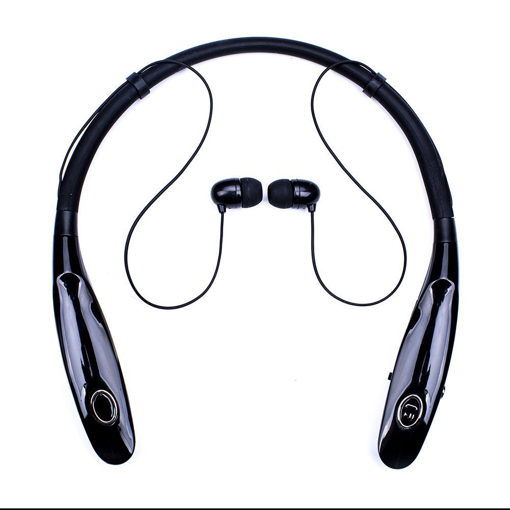 [Updated Version] Bluetooth Headphones 20Hr Working Time, Truck Driver Bluetooth Headset, Wireless Magnetic Neckband Earphones, V4.2 Noise Canceling Earbuds w/Mic