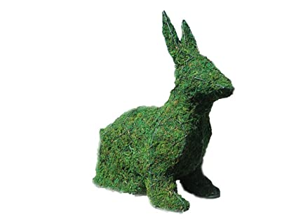 Amazon.com: Sitting Bunny 14 Inches High w/ Moss Topiary Frame ...