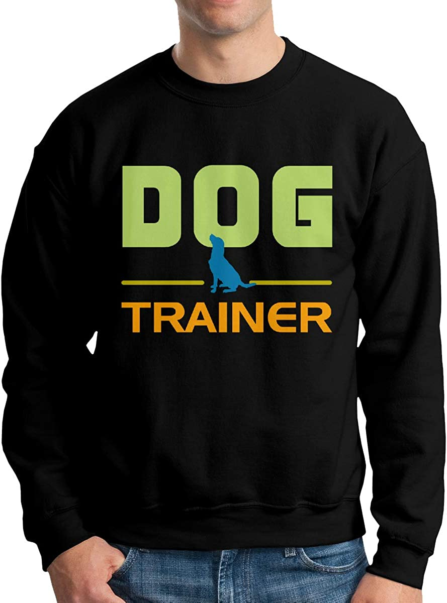 LLiYing-D Dog Trainer Lover Adult Mens Casual Long Sleeve Hoodie T-Shirts