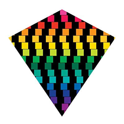 25 Inch Cubes ColorMax Nylon Diamond Kite with Line & Winder/Handle by X-Kites: Toys & Games