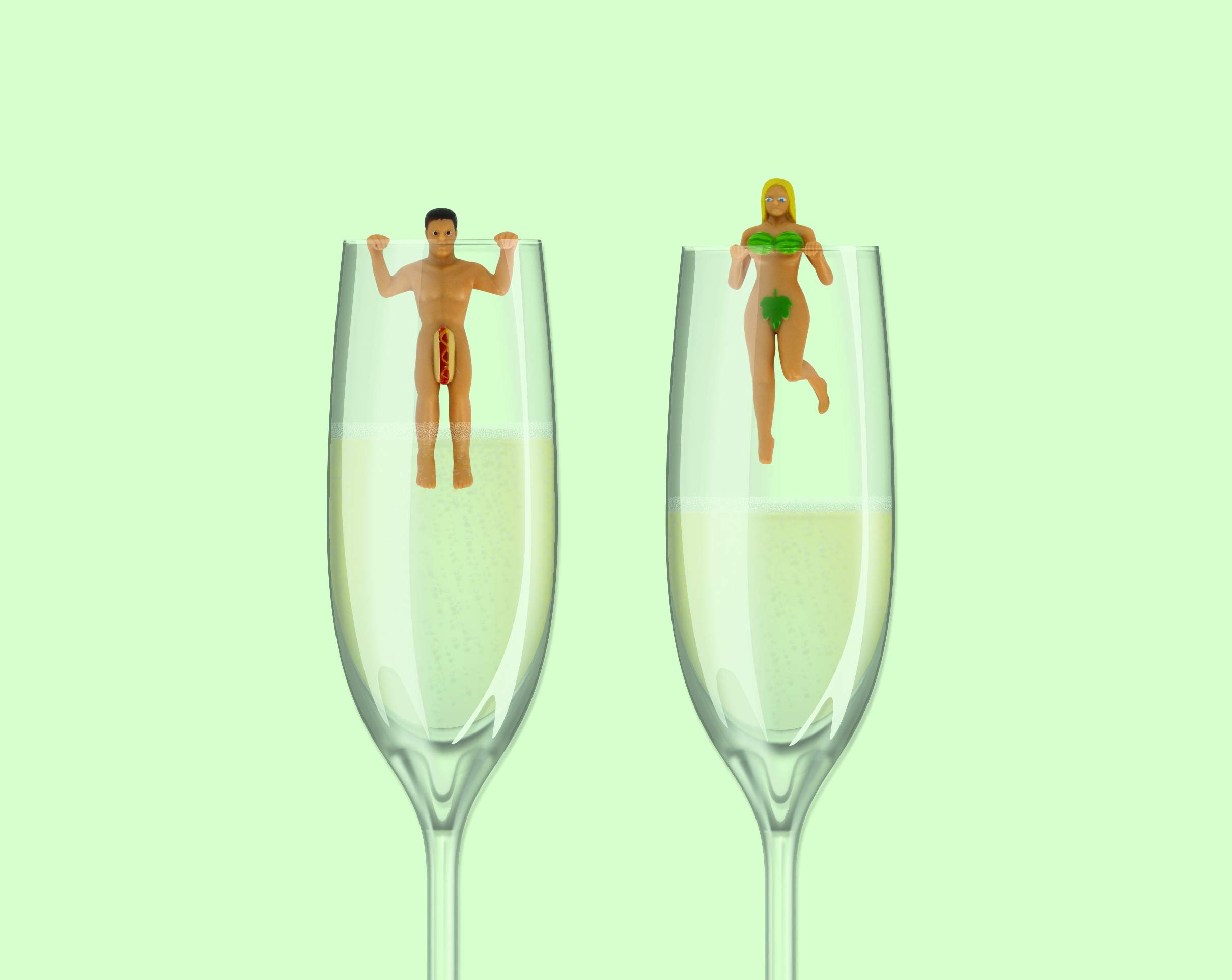 NPW Cocktail/Wine Glass Markers, In The Buff by NPW-USA (Image #6)