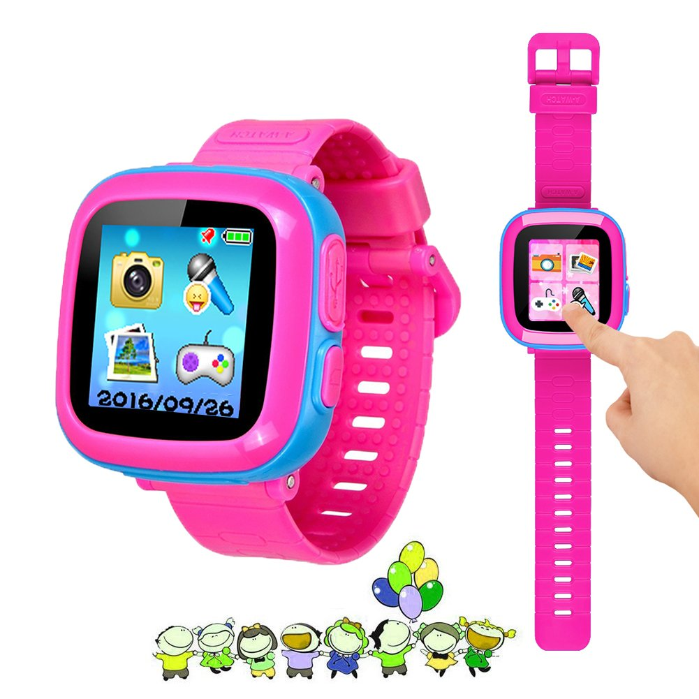 "Kids Game Watch Smart Watch For Kids Children's Birthday Gift With 1.5 "" Touch Screen And 10 Games, Children's Watch Pedometer Clock Smart Watch Kids Toys Boys Girls gift.(joint pink)"
