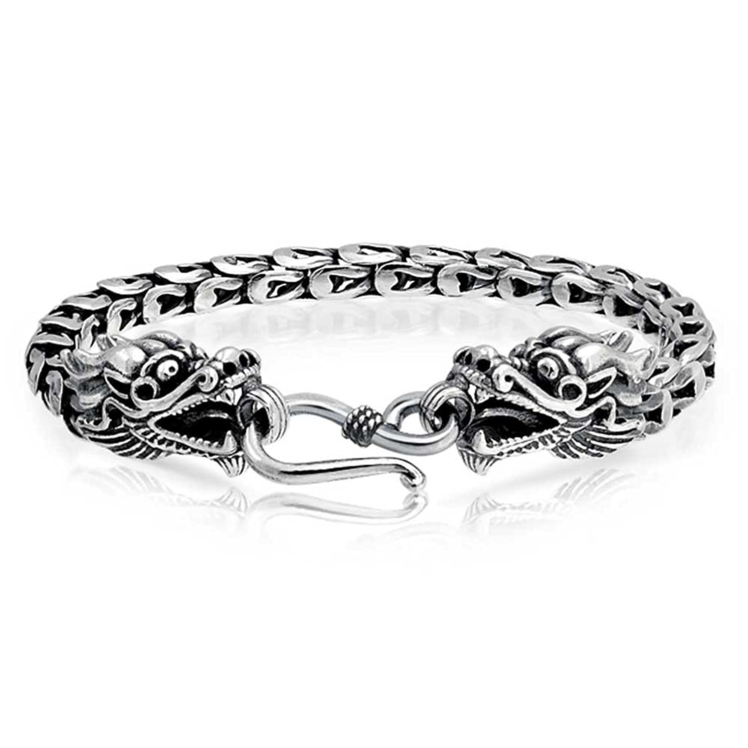 Amazon.com: Bling Jewelry Mens Antiqued Sterling Silver Bali Style ...