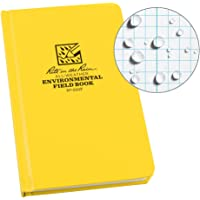 "Rite in the Rain Weatherproof Hard Cover Notebook, 4.75"" x 7.5"", Yellow Cover, Environmental Pattern (No. 550F)"
