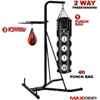Free Standing Punch Bag Boxing MMA Kick Training Set Adjustable Height 38-41/""