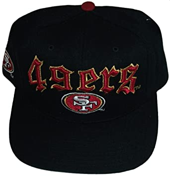 amazon com san francisco 49ers black old english plastic snapback