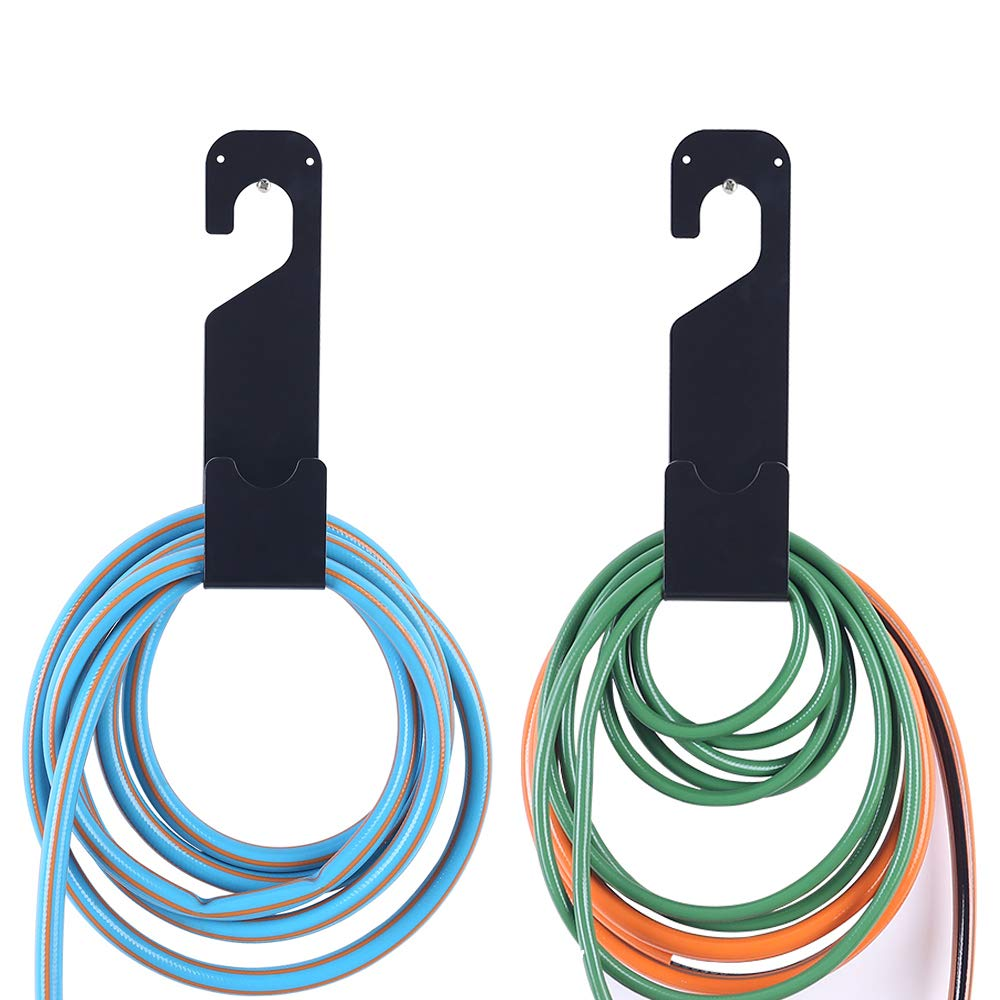 IPELY 2 Pack Hose Holder Hooks Wall Mounted 100 ft. Expandable Heavy Hose Storage Hanger Hooks Holder With 4 Screws