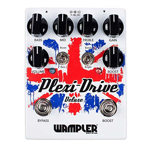 Wampler Pedals Plexi-Drive Deluxe V2 Distortion/Overdrive Effects Pedal (Vintage Compressor Pedal Guitar Effect)