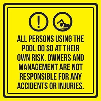 Amazon.com: Riesgo de ahogamiento piscina Spa señal de ...