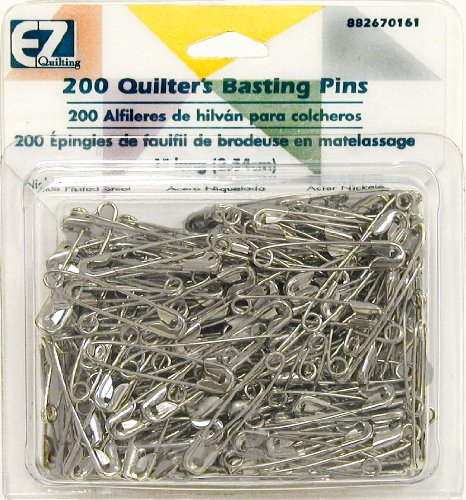 EZ International Safety Pin Quilter's Basting Size 1 1in 200ct 1