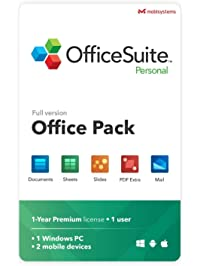 OfficeSuite Personal Compatible with Microsoft® Office Word Excel & PowerPoint® and Adobe PDF for PC Windows 10, 8.1, 8...