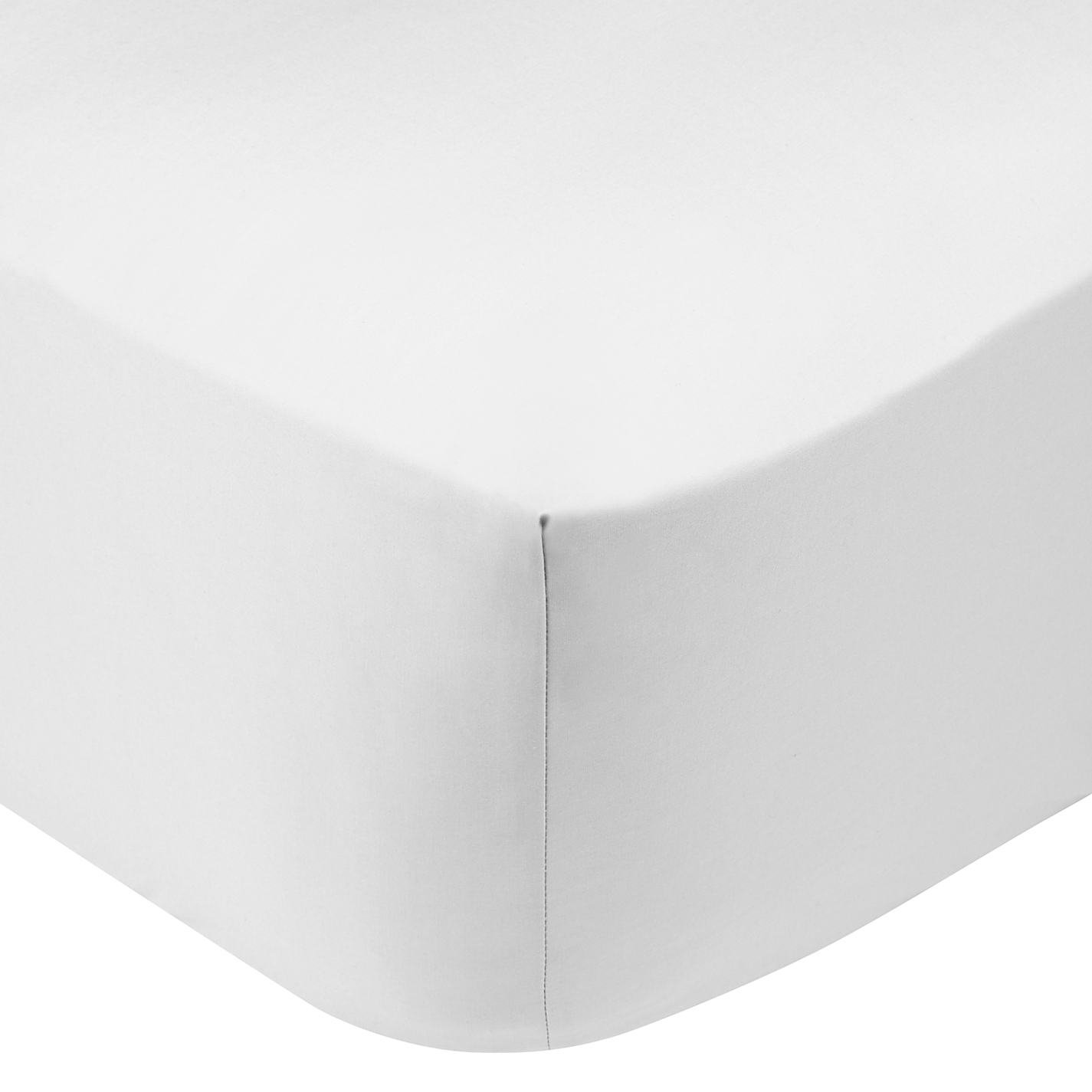 IDEAhome Jersey Knit Twin XL Size Fitted Bottom Sheets, 39'' X 80'' with 14'' Deep Pocket, Ideal for Twin XL Bed Mattress or Split King Adjustable Bed, Hypoallergenic, White, Pack of 1