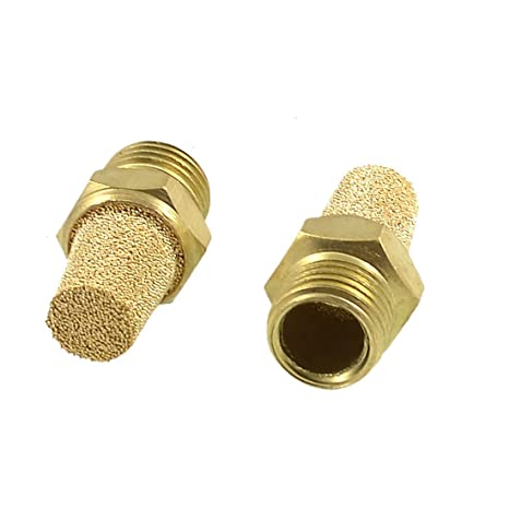 1//4 PT Thread Solenoid Valve Pneumatic Muffler Filter Noise Silencer Air Cylinder Accessories 6-Pack
