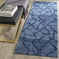 Safavieh Retro Collection RET2144-6570 Modern Abstract Blue and Dark Blue Runner (23 x 11)
