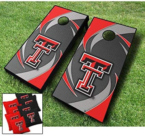 Texas TECH RED Raiders Cornhole Bags Set of 8 Officially Licensed ACA Regulation Baggo Bean Bags ~ Made in The USA
