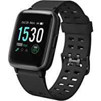 """LETSCOM Fitness Tracker, Activity Tracker 1.3"""" Color Screen Watch with Heart Rate Monitor Pedometer Sleep Monitor Step Calorie Counter, Waterproof Smart Watch for Women Men"""