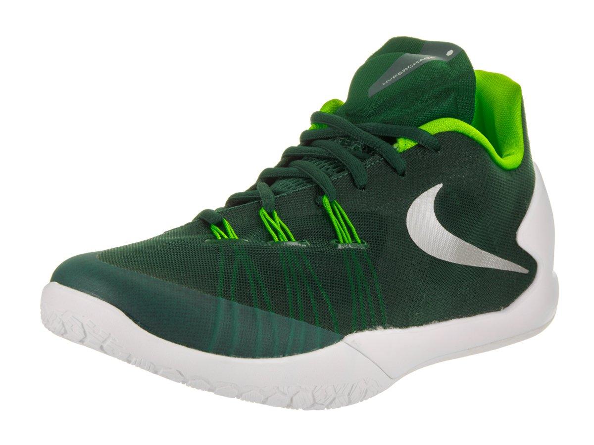 Nike Unisex Hyperchase TB Grg Grn/Mtllc Slvr White Elctr Basketball Shoe 8 Men US/9.5 Women US
