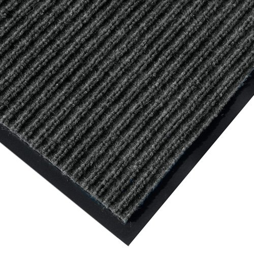 Rib Commercial Carpeted Indoor and Outdoor Floor Mat, Pepper, 4-feet by 6-Feet