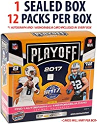 2017 Panini Playoff Football Hobby Edition Factory Sealed 12 Pack Box - Fanatics Authentic Certified