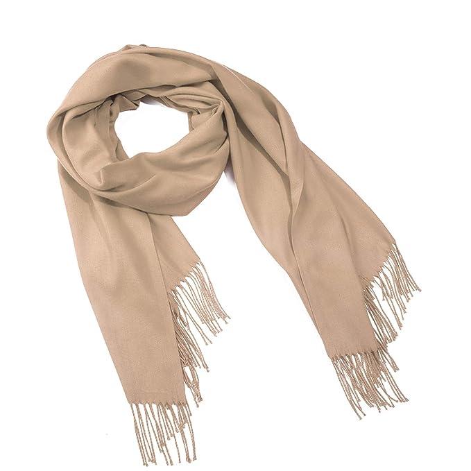 1bd9f0b79fecc Cashmere Scarf Pashmina Scarf for Women-Pashmina Shawl Wrap Solid Color  Khaki