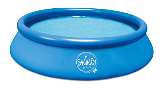 Ambientehome Quick Up Easy Piscina sobre Suelo, Azul, 366 x ...