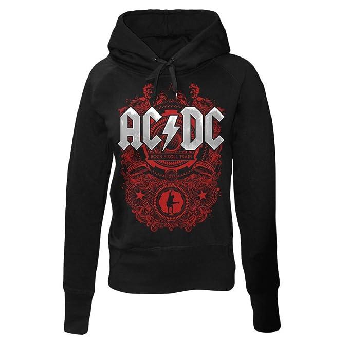Acdc Abbigliamento Con Amazon Felpa Cappuccio Donna it aaA6p