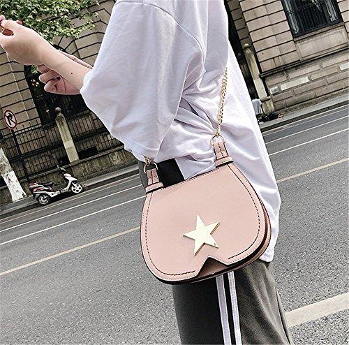 Pentagram Pink Femme Mode Épaule Décoration Rrock Métal Mode Diagonale Sac tPwxqtOTz