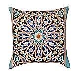 Beautiful Islamic Mosaic Mandala Throw Pillow Cover