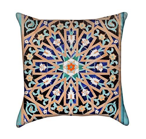 Beautiful Islamic Mosaic Mandala Throw Pillow Cover by Chickadee Décor