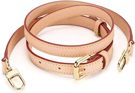 Gift2U Vachetta Leather Long Cross Body Strap for Small Bags Beige Adjustable Vachetta Leather Strap for Purses Replacement Purse
