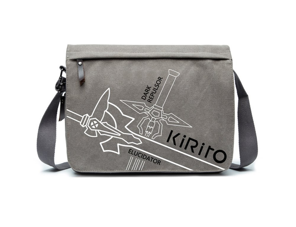 Gumstyle Sword Art Online Anime Canvas Satchel Crossbody Shoulder School Messenger Bag