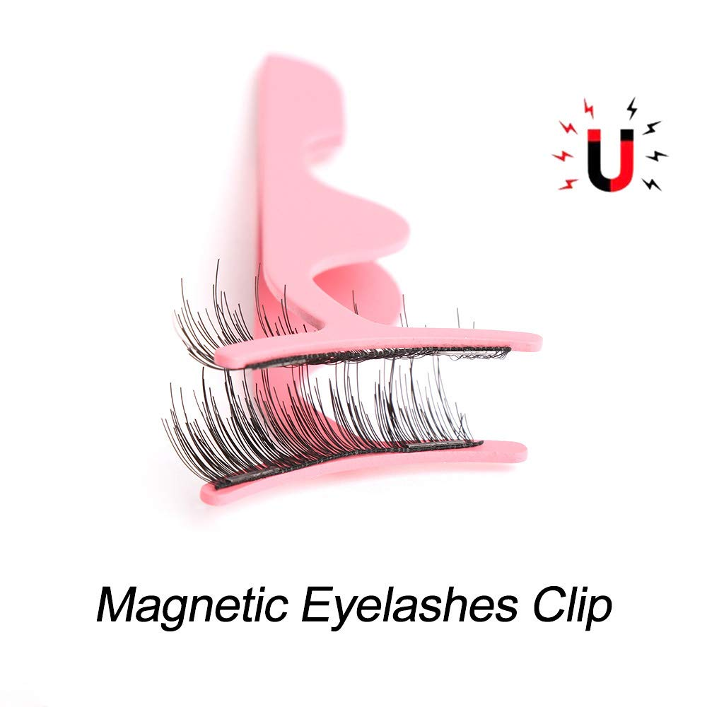 EVERYDI 1Pcs Professional Magnetic Eyelashes Extension Applicator Stainless Steel False Eyelashes Curler Tweezer Clip Clamp Makeup Tool